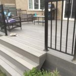 Custom Deck Railing With Stairs