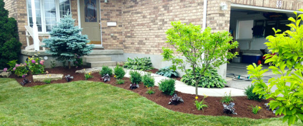 Kitchener Waterloo Flowerbed Landscape Design