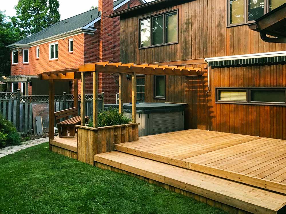 Landscape design projects yard worx landscape inc for Pool design kitchener