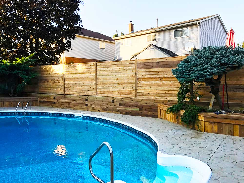 Retaining wall design kitchener waterloo yard worx for Pool design kitchener